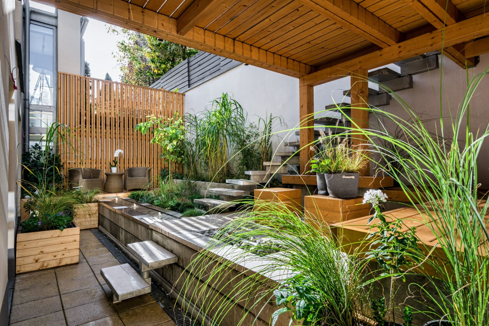 contemporary garden with patio